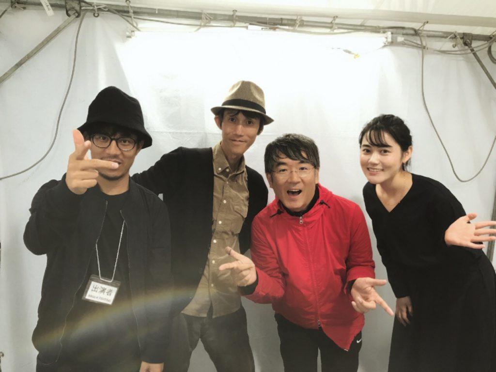 From Right:モーシー(莫西子詩),Staff of PANDA RECORD, 鈴木惣一朗(Soichiro Suzxuki)、チェンビー(程璧)
